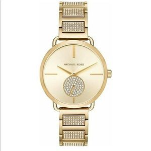 Michael KORS Portia Pav Gold and diamond watch
